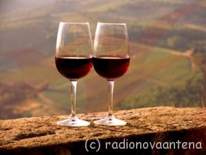 Two wine glasses filled with Chianti Classico